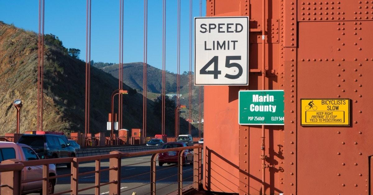 45 Speed Limit Golden Gate Bridge